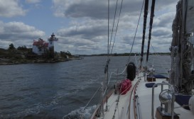 Approaching Point Au Baril lighthouse