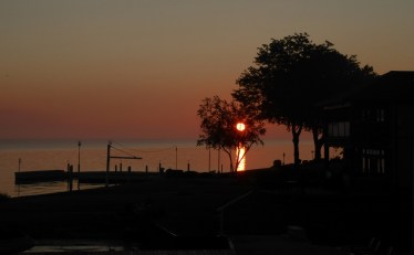 Sun riising over Lake St. Clair - from guest bedroom