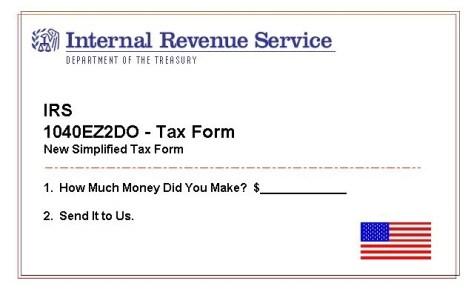 Fake Tax Form