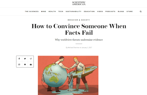 Scientific American- How to Convince Someone When Facts Fail