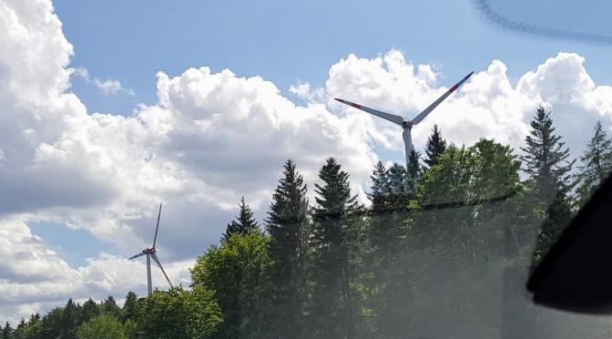 Windmills along the German Autobahn