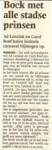 De Gelderlander over 'Van de Prins geen kwaad'