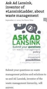 De oproep van www.wastewise.be