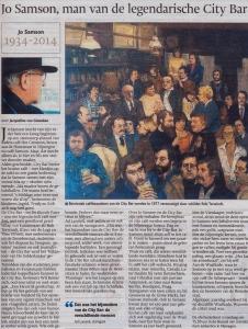 Jo Samson, man van de legendarische City Bar door Jacqueline van Ginneken de Gelderlander, 23 oktober 2014