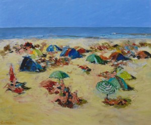 Robert Terwindt, Strand I (2015) Olieverf op doek, 120 x 100 cm