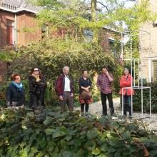 Coen Vernooij's beeld in de tuin van Nel Linssen aan de Groesbeekseweg