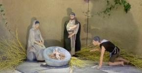 Detail: Jozef en Maria met Kind
