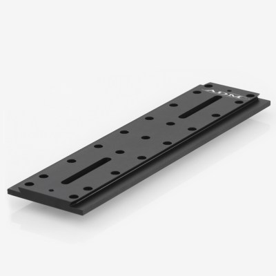 ADM Accessories | D Series | Universal Dovetail Bar | DUP15M | DUP15M- D Series Universal Dovetail Bar. 15″ Long, 60mm Spacing | Image 1