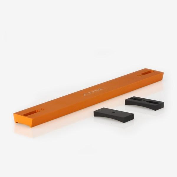 ADM Accessories | V Series | Dovetail Bar | VM8-O | VC8- V Series Dovetail Bar for Celestron 8″ SCT Telescope. Orange Anodized | Image 1