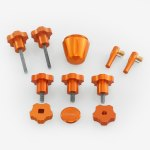 ADM Accessories | Miscellaneous | Thumb Screws - Hand Knobs | AVX-OR | Celestron AVX Knob Upgrade Kit - Orange | Image 1