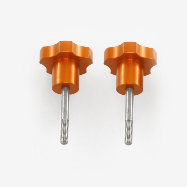 ADM Accessories | Miscellaneous | Thumb Screws - Hand Knobs | CGEM-SAD | Celestron CGEM Saddle Tightening Knobs - Orange | Image 1