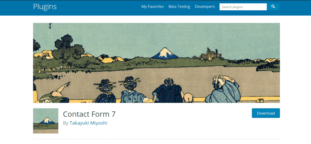 famous conatct form in wordpress