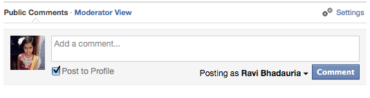 click on moderate link to manage comments posted by facebook comments module in drupal
