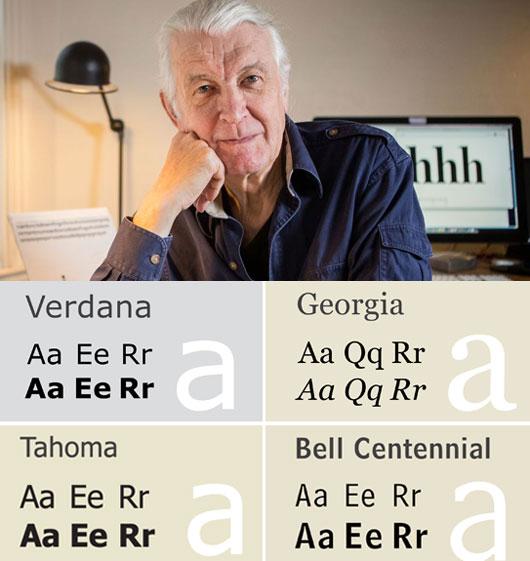 Typographer Matthew Carter