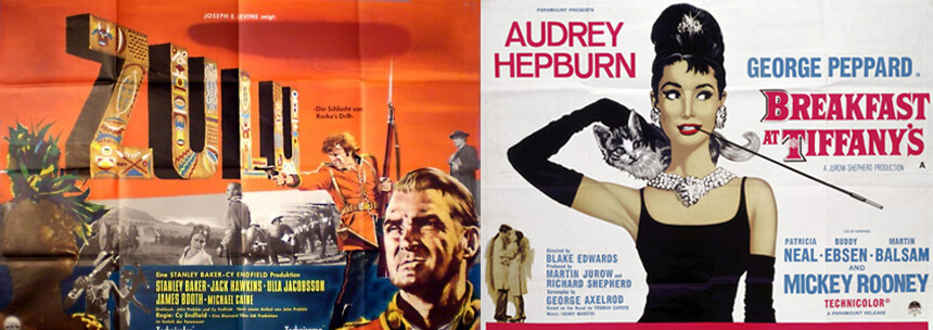 Double sided style movie posters