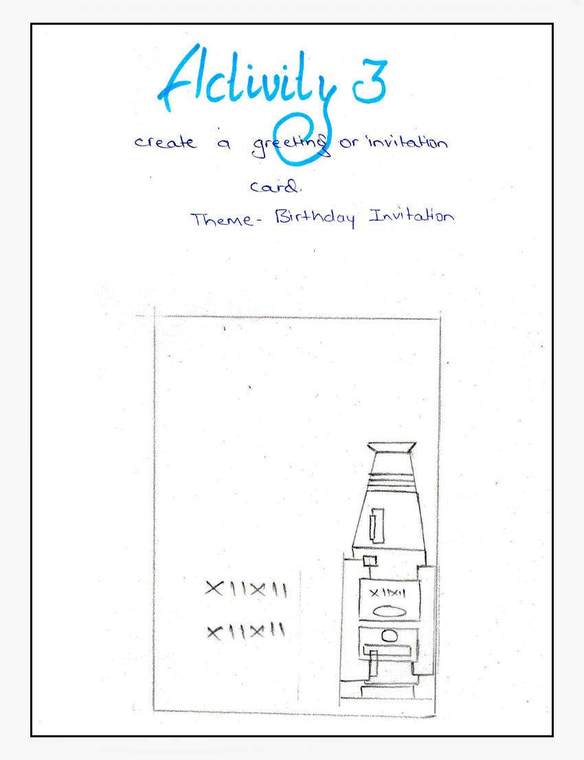 Shape Activity 3: Birthday Invitation Idea Layout