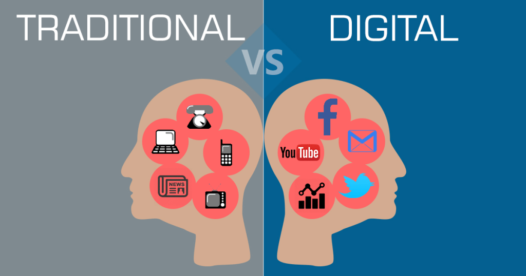 Online marketing, Traditional Marketing