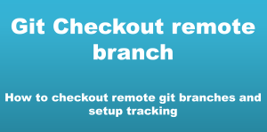 git checkout remote branch