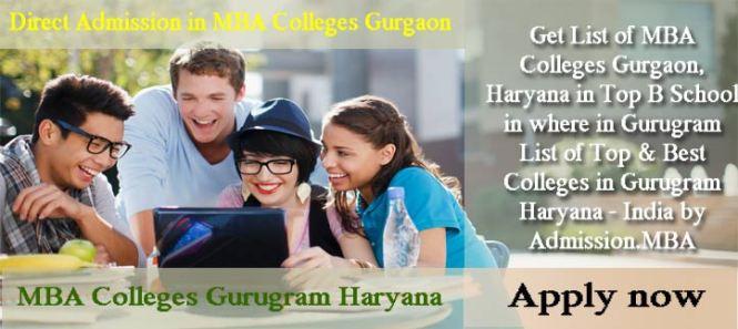 MBA Colleges Gurgaon Haryana