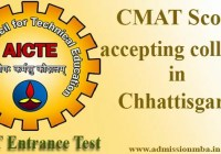 CMAT Score accepting colleges in Chhattisgarh