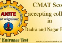 CMAT Score accepting colleges in Dadra and Nagar Haveli