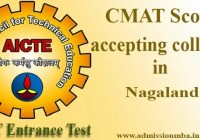 CMAT Score accepting colleges in Nagaland