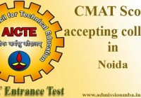 CMAT Score accepting colleges in Noida