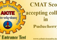 CMAT Score accepting colleges in Puducherry