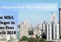 MBA Colleges in Pune with Fees 2018