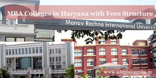 MBA Colleges in Haryana with Fees Structure