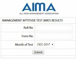 MAT Result Dec 2017