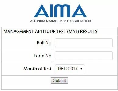 MAT Result December 2017