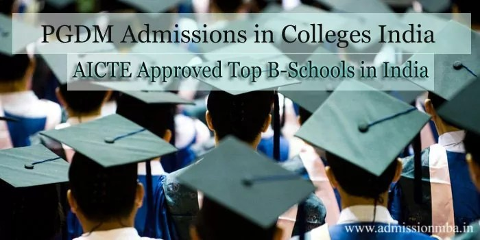 PGDM Admissions in Colleges