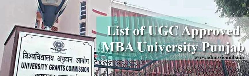 UGC Approved MBAUniversity Punjab