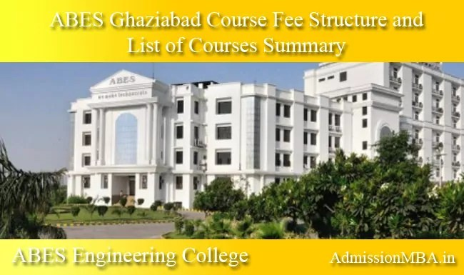 ABES Ghaziabad course fee