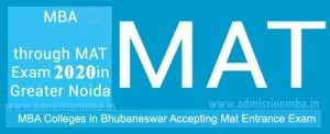 MBA Colleges in Bhubaneswar Accepting MAT Score
