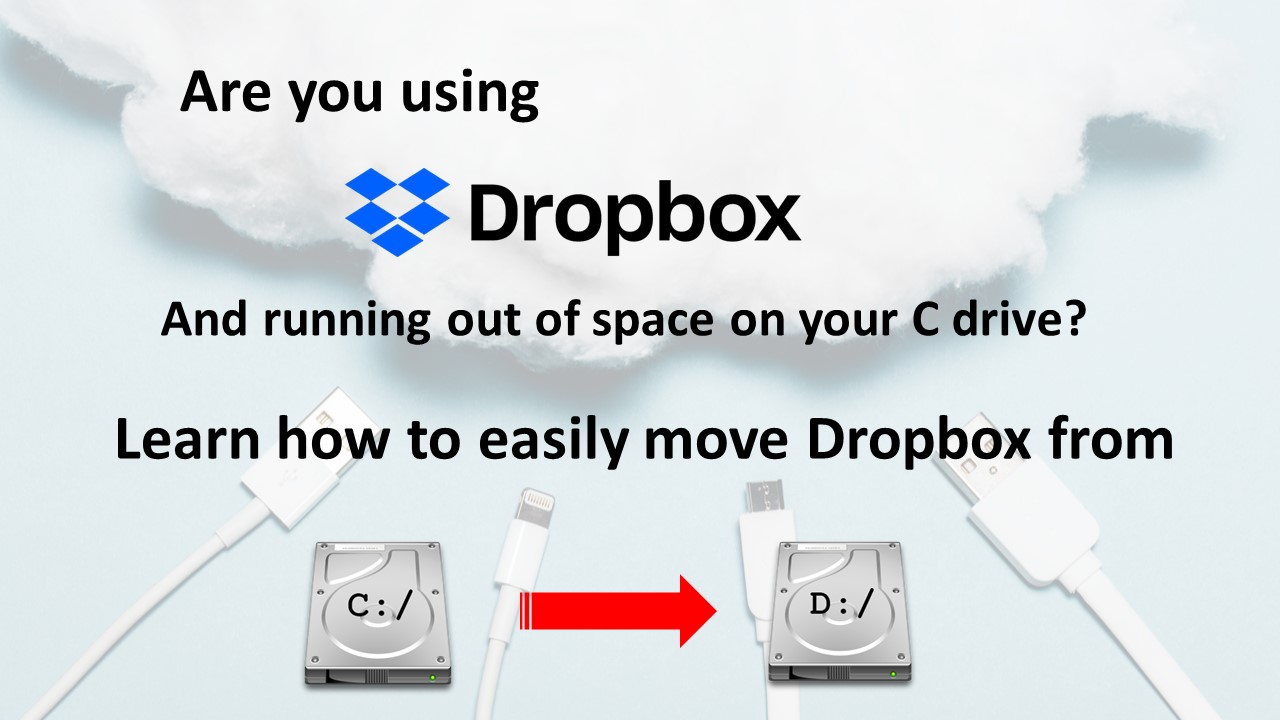 Is Dropbox taking up too much space on C Drive?
