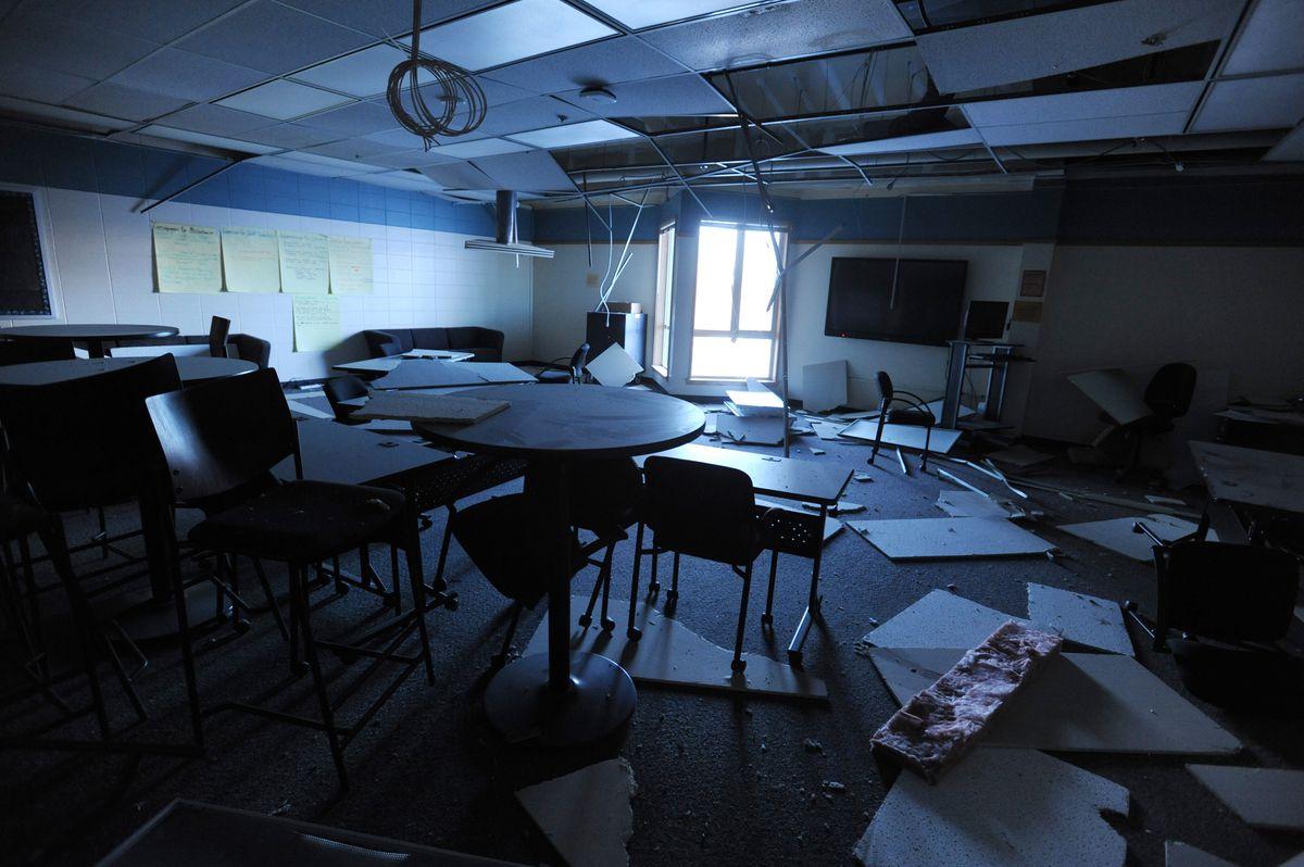 earthquake damaged mat su school to