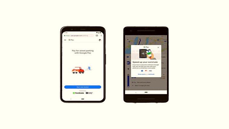 Google, dijital ödeme sistemi Google Pay ile harita uygulaması Haritalar'da güzel bir iş birliği gerçekleştirerek kullanıcıların uygulama üzerinden toplu taşıma ve park yeri ücretlerini ödeyebilmesine olanak sağladı. Ancak özellik şu an için Türkiye'de kullanılamıyor.