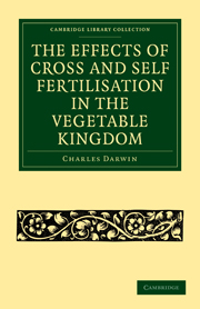 The Effects of Cross and Self Fertilisation in the Vegetable