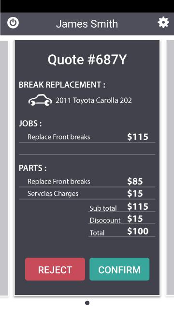 invoices screen design