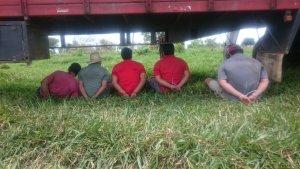 Los detenidos fueron identificados como Ángel Aquino, de 26 años, Ángel Martínez, de 32 años, Cristian Paredes, de 33 años, Milciades Acosta, de 47 años y Osvaldo Sandoval, de 33 años.