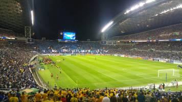Socceroos vs Japan entrance