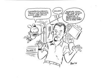 Vignetta di 'Rat-Man' festeggia le 6mila ore nello spazio di Nespoli
