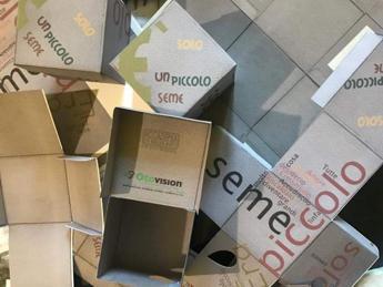 Da Accademia belle Arti Frosinone e Otovision scatole d'arte con buoni spesa