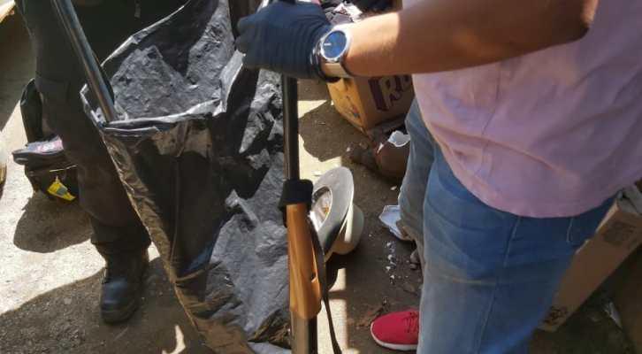 En cateo realizado en Santa Cruz Mixtepec, Zimatlán, Fiscalíaasegura armamento, drogas y detiene a 2 personas (19:30 h)