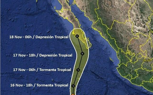 """Se mantiene monitoreo y comunicación constante por la tormenta tropical """"Raymond"""" (13:00 h)"""