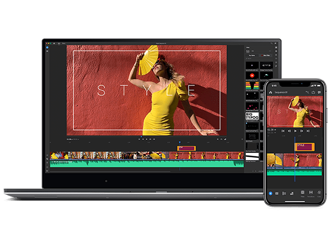 Introducing Adobe Premiere Rush. Create and edit on the go.