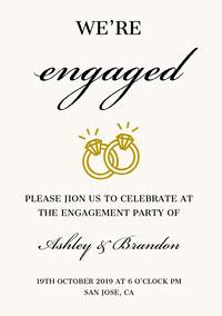 wedding engagement invitation templates