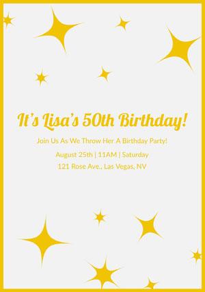 Free 50th Birthday Party Invitation Templates Adobe Spark